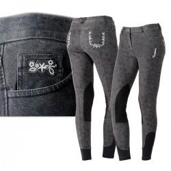 Jeans imprimé fleurs Tattini